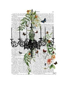 Chandelier With Vines and Butterflies by Fab Funky
