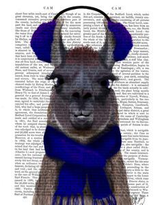 Chilly Llama, Blue by Fab Funky