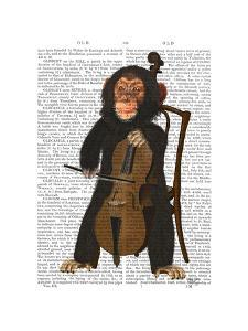 Chimp Playing Cello by Fab Funky