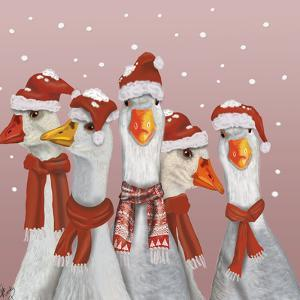 Christmas Gaggle of Geese by Fab Funky