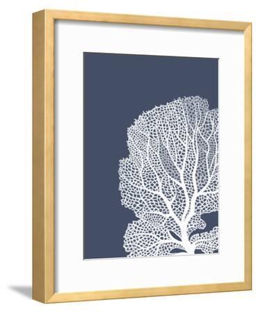 Corals White on Indigo Blue b