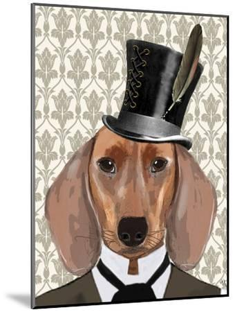 Dachshund Dog with Top Hat by Fab Funky