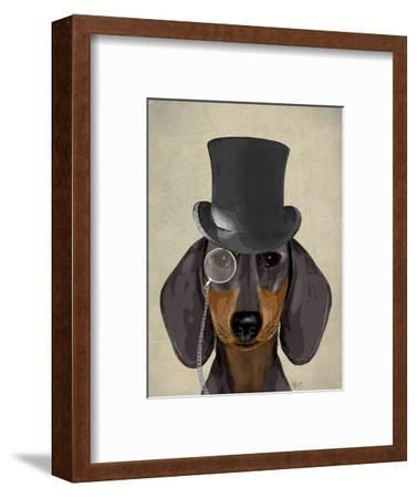 Dachshund, Formal Hound and Hat by Fab Funky