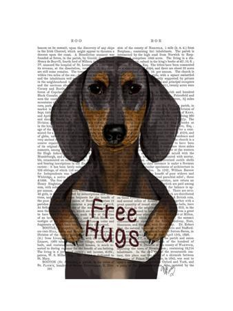 Dachshund Free Hugs by Fab Funky