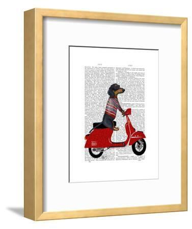 Dachshund on a Moped by Fab Funky