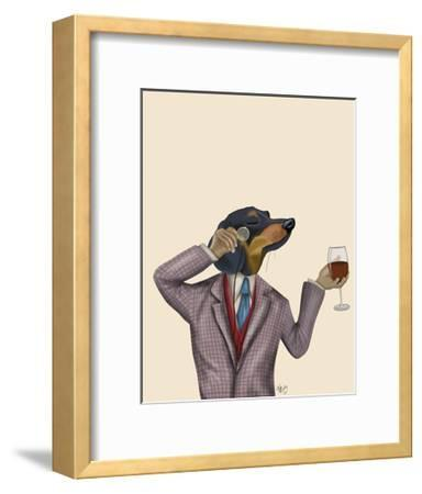 Dachshund Wine Snob by Fab Funky