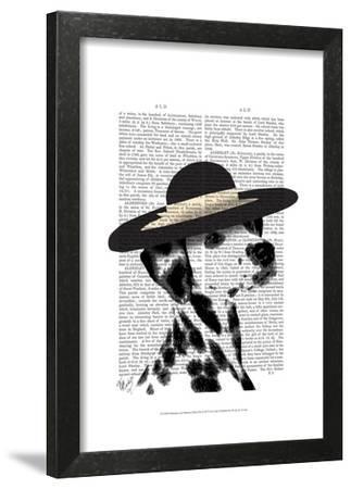 Dalmatian and Brimmed Black Hat