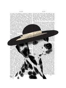 Dalmatian and Brimmed Black Hat by Fab Funky