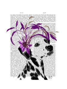 Dalmatian With Purple Fascinator by Fab Funky