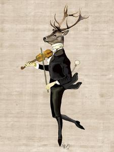 Dancing Deer with Violin by Fab Funky