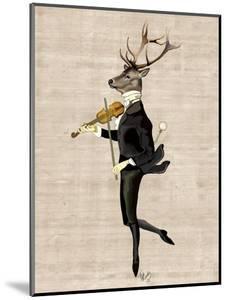 Dancing Deer with Violin by Fab Funky