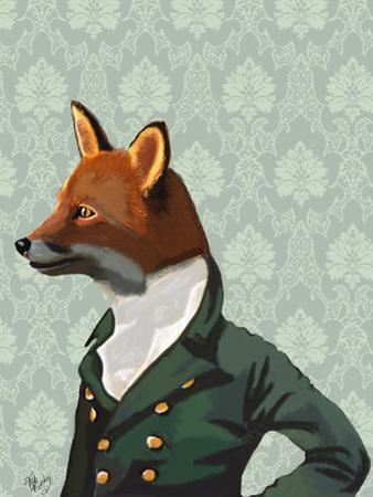 Dandy Fox Portrait by Fab Funky