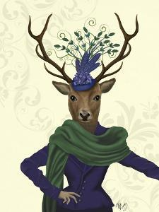 Deer and Fascinator by Fab Funky