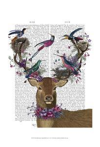 Deer Birdkeeper, Tropical Bird Nests by Fab Funky