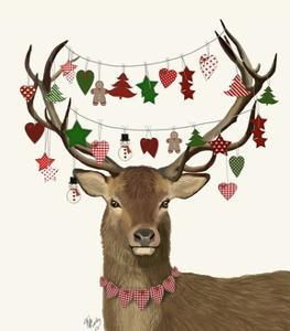 Deer, Homespun Decorations by Fab Funky