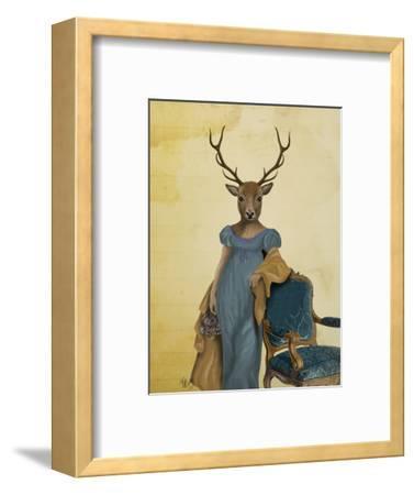 Deer in Blue Dress