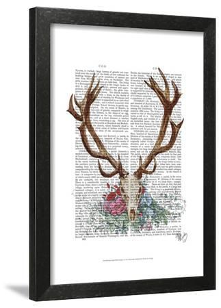 Deer Skull With Flowers 1 by Fab Funky