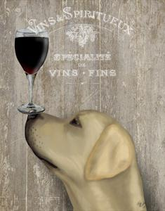 Dog Au Vin Yellow Labrador by Fab Funky