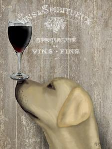 Dog Au Vin Yellow Labrador by Fab Funky