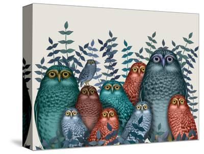 Electric Owls, Blue and Orange by Fab Funky