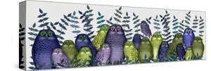 Electric Owls, Purple and Lime by Fab Funky