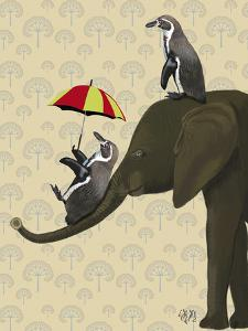 Elephant and Penguins by Fab Funky