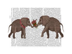 Elephant Bouquet, Landscape by Fab Funky