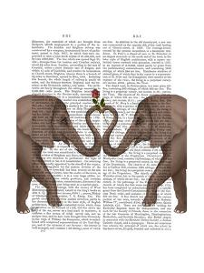Elephants Heart and Rose by Fab Funky