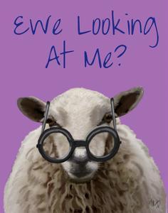 Ewe Looking at Me DeNiro Sheep by Fab Funky