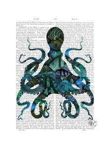 Fishy Blue Octopus by Fab Funky