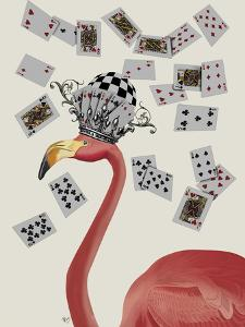 Flamingo and Cards by Fab Funky