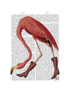 Flamingo in Pink Boots by Fab Funky