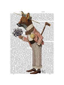 Fox in Boater by Fab Funky