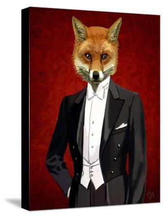 Fox In Evening Suit Portrait by Fab Funky