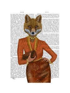Fox in Orange, Portrait by Fab Funky