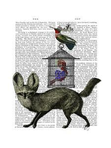 Fox With Birdcage by Fab Funky