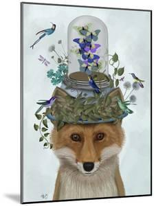 Fox with Butterfly Bell Jar by Fab Funky