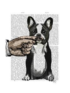 French Bulldog and Finger Moustache by Fab Funky