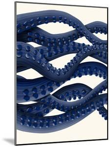 Giant Octopus Blue Triptych b by Fab Funky
