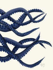 Giant Octopus Blue Triptych c by Fab Funky