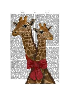Giraffes and Bow by Fab Funky