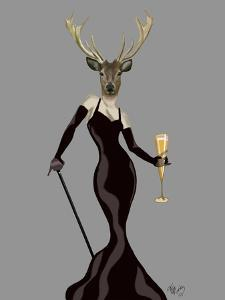 Glamour Deer in Black by Fab Funky