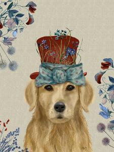 Golden Retriever Milliners Dog by Fab Funky