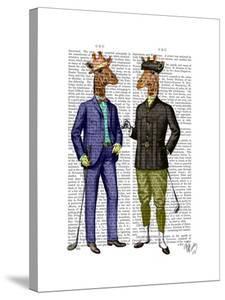 Golfing Giraffes by Fab Funky