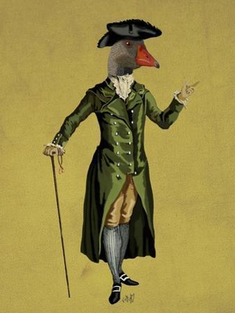 Goose in Green Regency Coat by Fab Funky