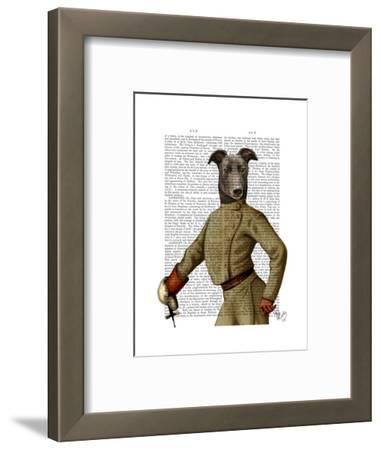 Greyhound Fencer Dark Portrait