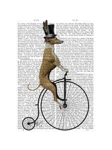 Greyhound on Black Penny Farthing Bike by Fab Funky