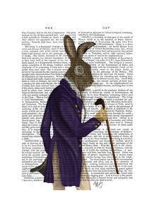 Hare In Purple Coat by Fab Funky