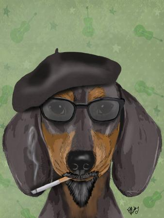 Hipster Dachshund by Fab Funky