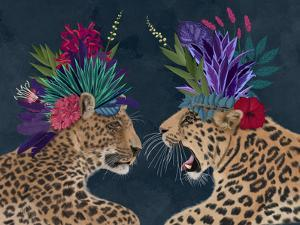 Hot House Leopards, Pair, Dark by Fab Funky